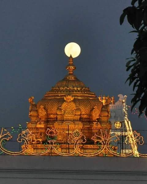 Kala Ksetram, Moon over temple Veemana, Tirupati