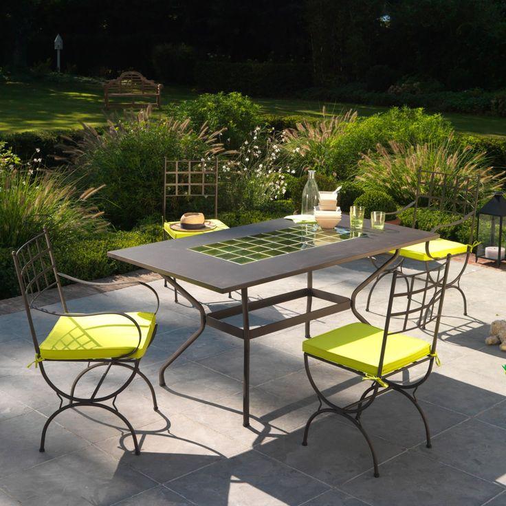 Les 25 meilleures id es concernant patios couverts sur for Table jardin la redoute