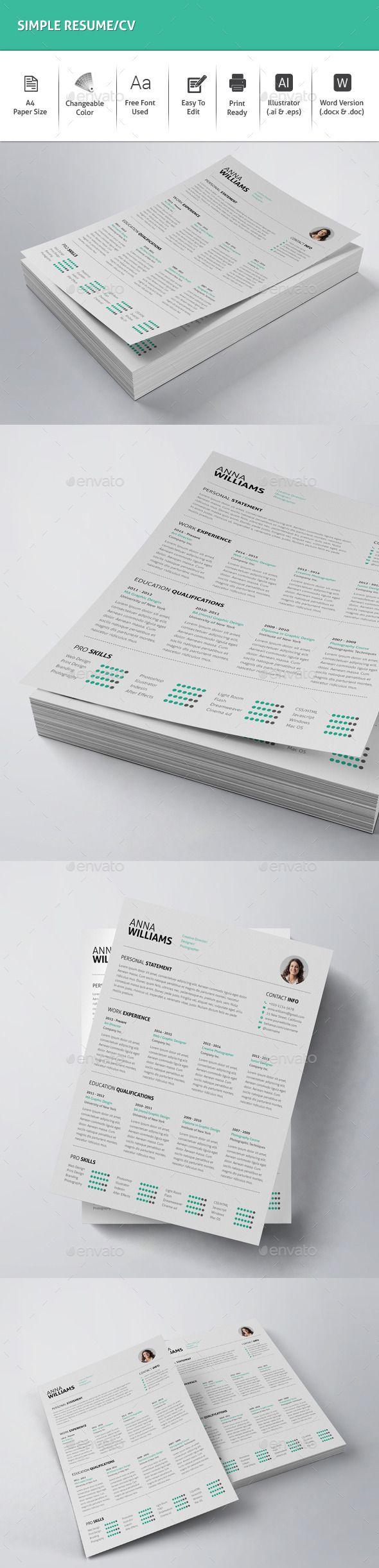 best 25 simple resume ideas on pinterest simple resume template