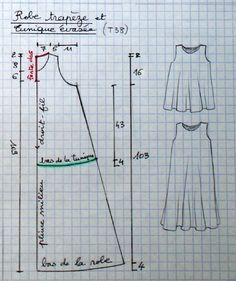 trapese dress pattern - lots of patterns on this ... | Patterns sewing