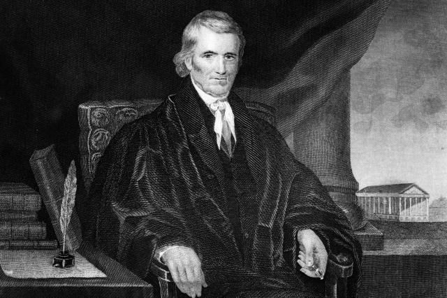 """Called """"The Great Chief Justice,"""" John Marshall Made the Supreme Court Powerful.: Chief Justice John Marshall"""