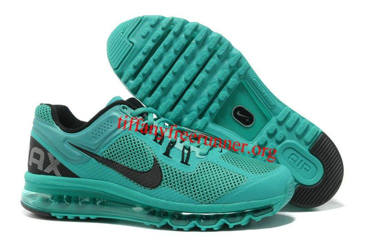 Mens Nike Air Max 2013 Bright Turquoise Black Shoes