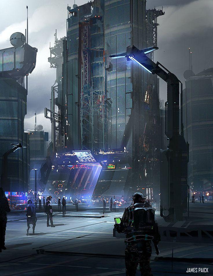 ArtStation - Conceptual Architecture Design, James Paick  To look:  Creative theme - Future, sci-fi archi Painting technique