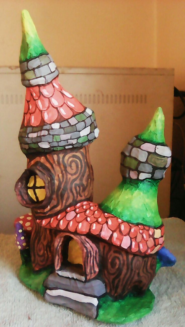 Dwarven mushroom house 1, frontal view