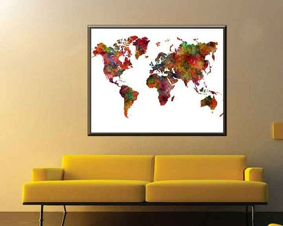 21 best world maps images on pinterest maps posters world map large world map poster world map large map art world map decor world map print world map gift gumiabroncs Image collections
