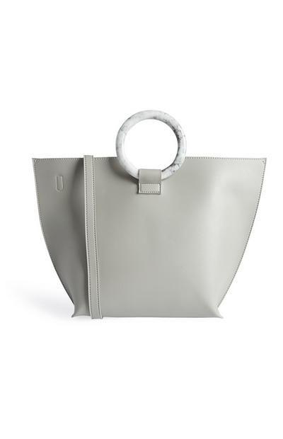 cfcd6d57b2 Grey Hoop Handle Tote | Primark Style in 2019 | Primark style, Purses, bags,  Primark