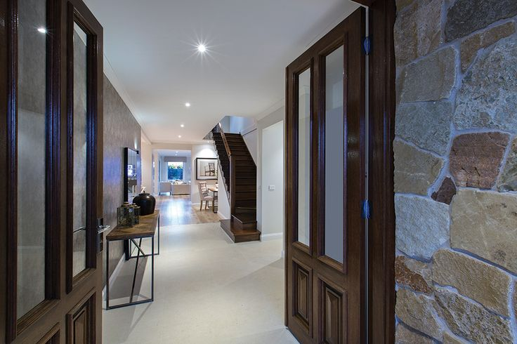 Grand entry on the Forsyth display home with a Tuscany World of Style.