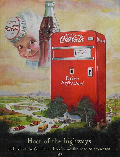 1950s Coca Cola Vintage Illustration Advertisement