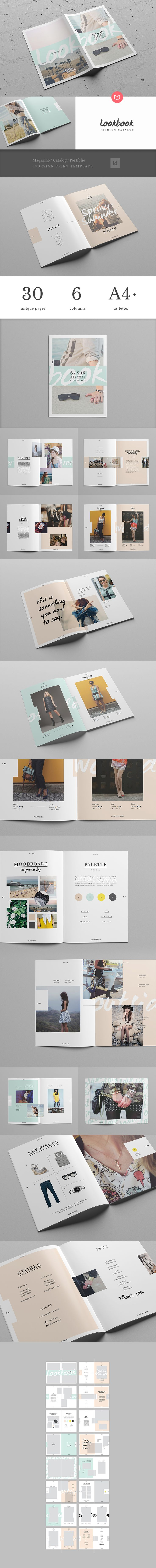 32 pages lookbook in A4 and US letter size. INDD files ready to customize + PDF help file. The images used for this mockup are from Foter.com and Stock-up (and they're not included). Thanks for your visit!
