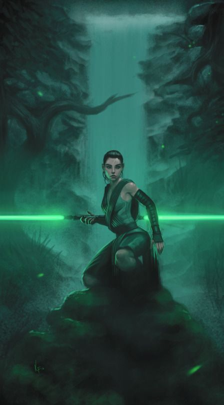 Oh how I'd love to see Rey wielding a lightsaber like this one.