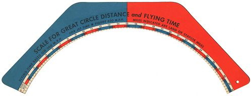 Scale For Great Circle Distance And Flying Time