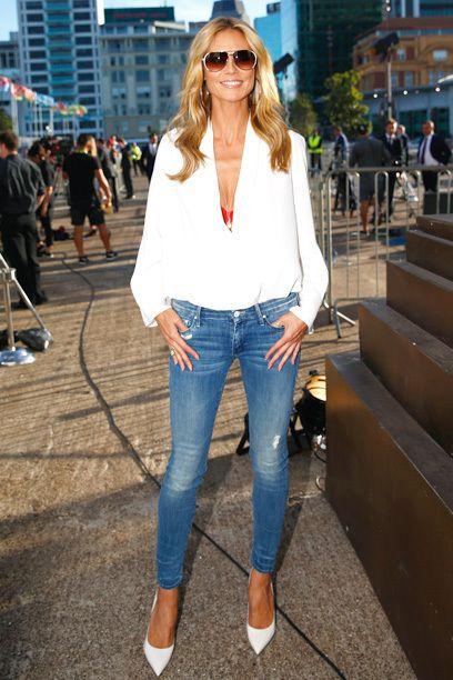 7 Tage, 7 Looks zum Nachstylen - Durch die Woche im Jeans-Look wie Heidi Klum
