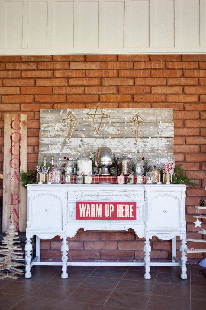 cute to put by bar with drinks; Merry and Bright Holiday Party - Classy Clutter
