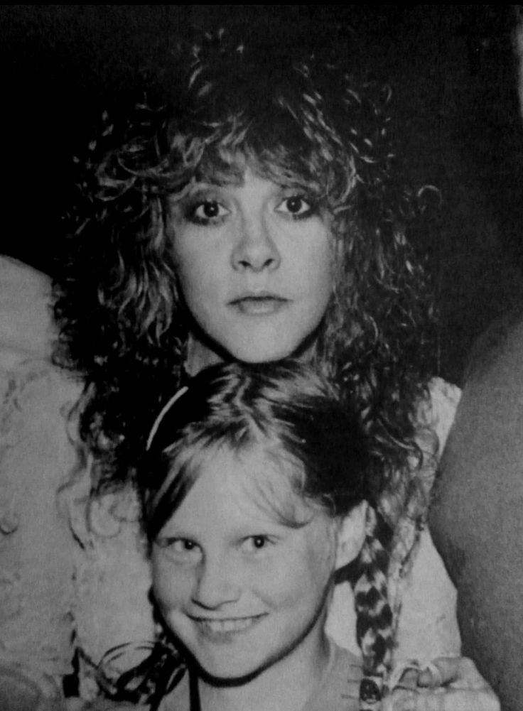 Stevie Nicks with a young fan.