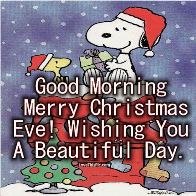 Snoopy Good Morning Christmas Eve Quote Christmas Good Morning Christmas Eve Merry Christmas Ev Christmas Eve Quotes Christmas Eve Humor Good Morning Christmas