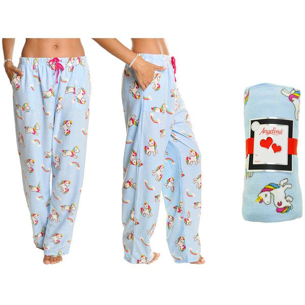 Women's Angelina Women's Fleece Pajama Sets ($12) ❤ liked on Polyvore featuring intimates, sleepwear, pajamas, ivory, lounge & sleepwear, fleece sleep pants, fleece pyjamas, animal pjs, long sleeve sleepwear and animal pajamas