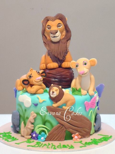 36 best Lion King Cakes images on Pinterest Lion king cakes