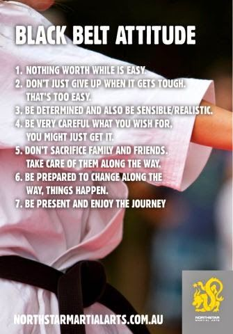 Northstar Martial Arts provides 7 characteristics to adopt a Black Belt attitude. Be a #blackbelt in whatever your chosen field is. #wealthadviser