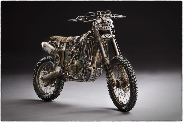"""Custom Motorcycle from """"MAD MAX : FURY ROAD"""" Before the dirt. #motorcycle #Post_Apocalyptic Photo by John Platt."""