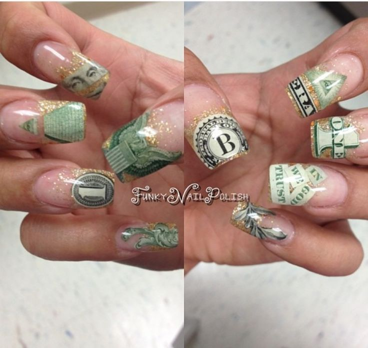 23 best dollar bill nails images on pinterest nail designs love this photo funkynailpolish rocks it prinsesfo Images
