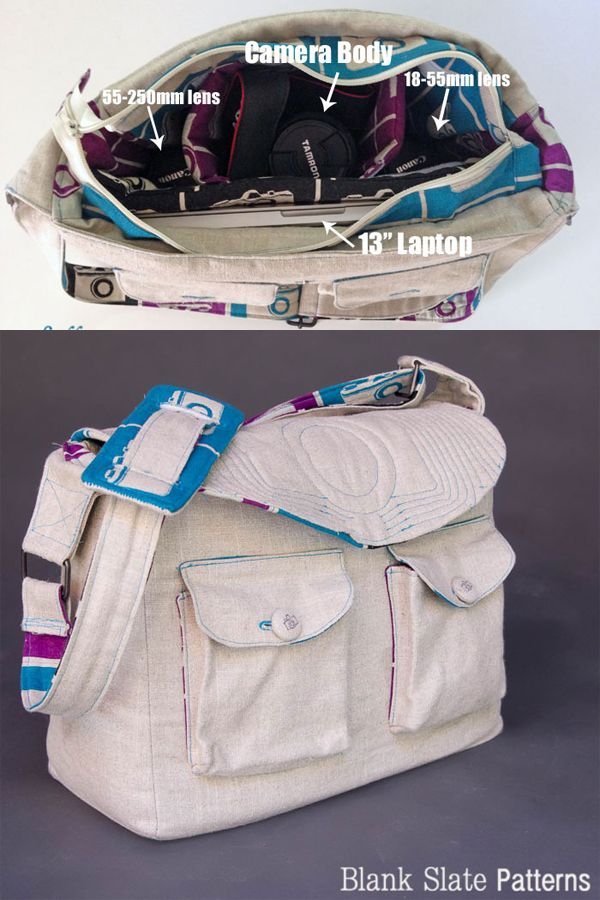 Quilted Camera Bag Pattern - very nice! will hold camera + 2 lenses + laptop
