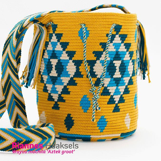 Wayuu mochila Aztek groot