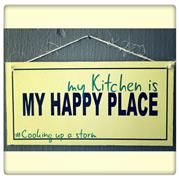 Happy Place Sign. Kitchen