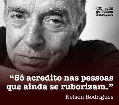 Nelson Rodrigues, escritor, dramaturgo, jornalista nascido em Recife, estado de Pernambuco.