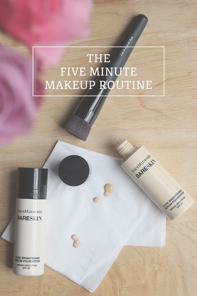 My 5 minute makeup routine - A Girl Named PJ