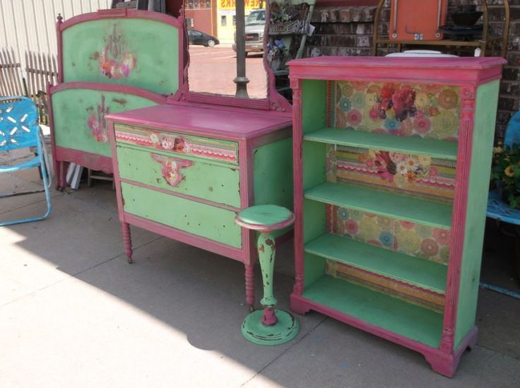 Shabby Chic Bedroom Setvintage Furniture By Chixcoopantiques 475 00