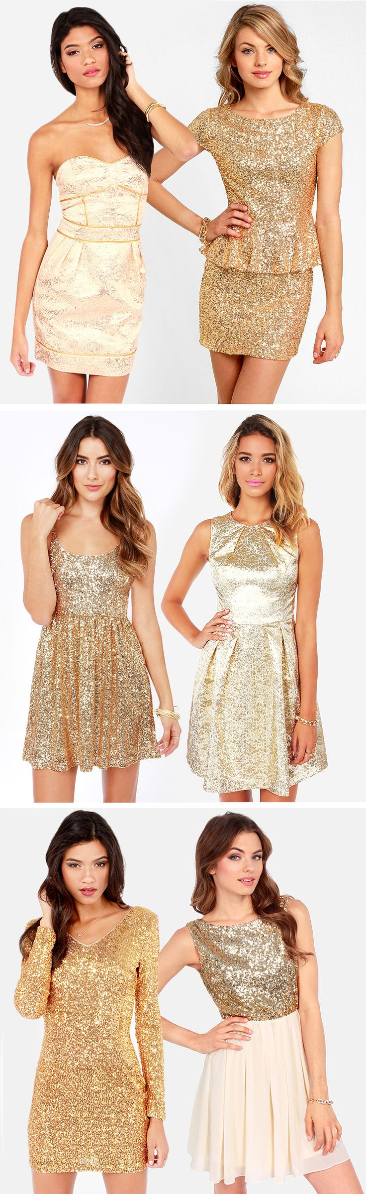 Gold Sequin Dresses #holiday #sparkle