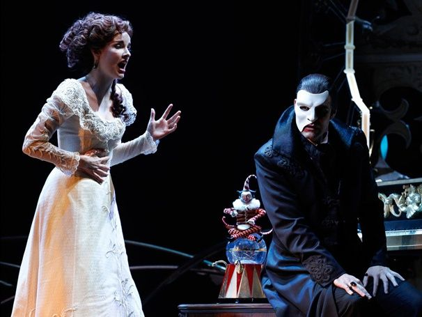 Anna O'Byrne as Christine and Ben Lewis as the Phantom - Costumes and set by Gabriella Tylesova