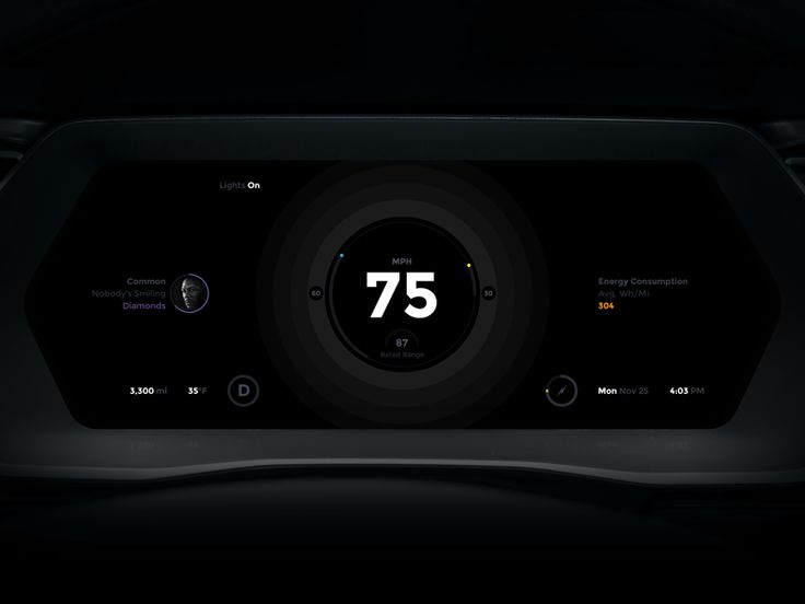 Tesla Model S Dashboard UI Redesign