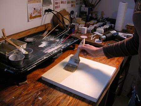 Encaustic technique wax
