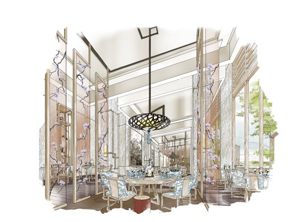 Chinese restaurant sketches pinterest perspective
