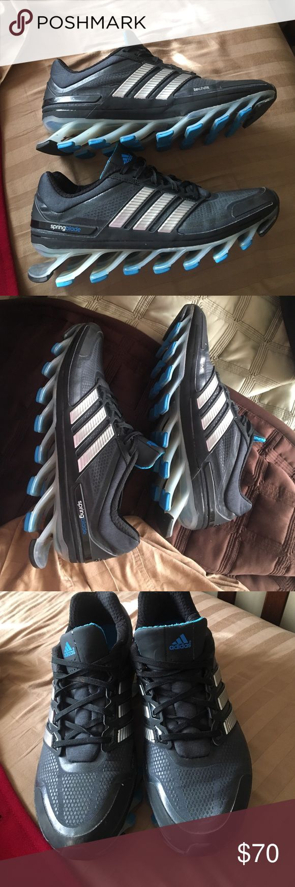 Adidas Springblades Price negotiable, just make an offer! Like new, men's size 8.5! Only worn a few times. Adidas Shoes Athletic Shoes