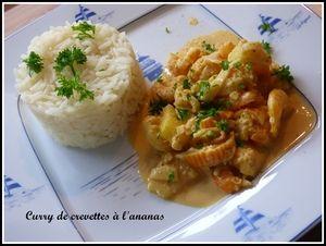 Curry de crevettes au lait de coco au Thermomix