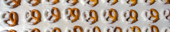 Phantom of the Opera Food Ideas: Almond Bark Dipped Pretzels