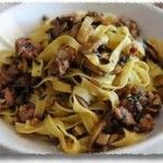 Sausage and Garlic Mushroom Tagliatelle
