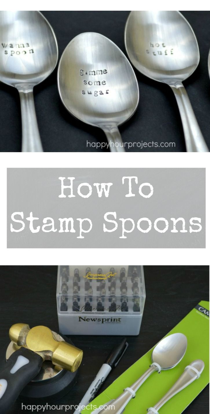 How to Stamp Metal Spoons