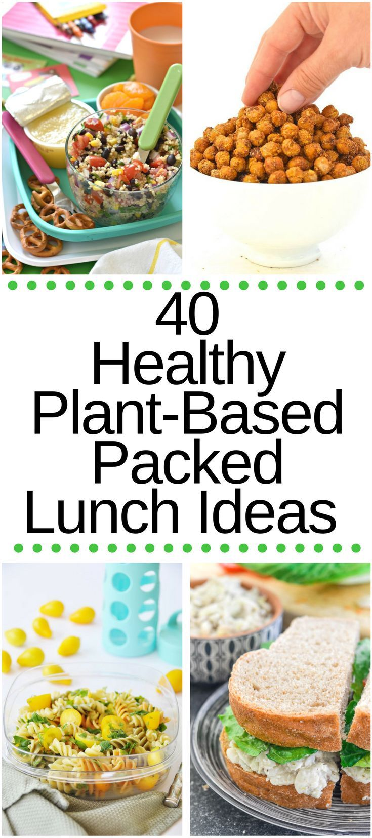 Click on the slideshow to view 40 Healthy Plant-Based Packed Lunch Ideas! Mel is the author, recipe creator, photographer and editor of the blog A Virtual Vegan.