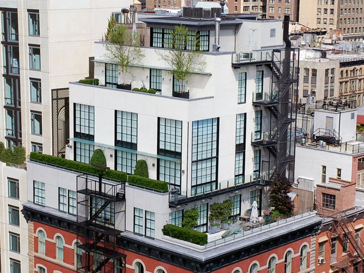 Breathtaking Five Story Penthouse with Private Rooftop Garden in New York City