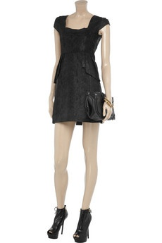 Isadora snake-effect leather mini dress by ALICE by Temperley