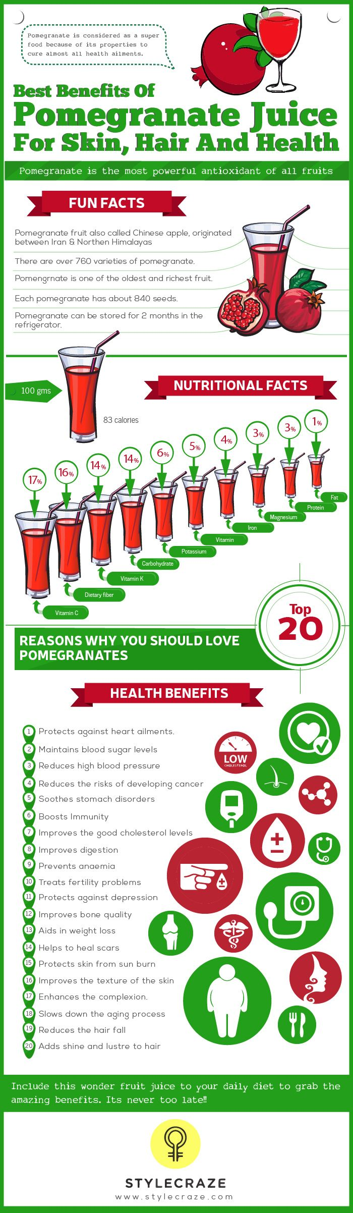 Pomegranate is something that we eat fairly regularly during the season. But drinking it is a lot more useful > Here we list the pomegranate juice benefits.