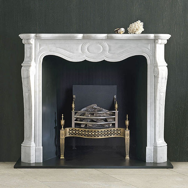 white mantel fireplace french traditional
