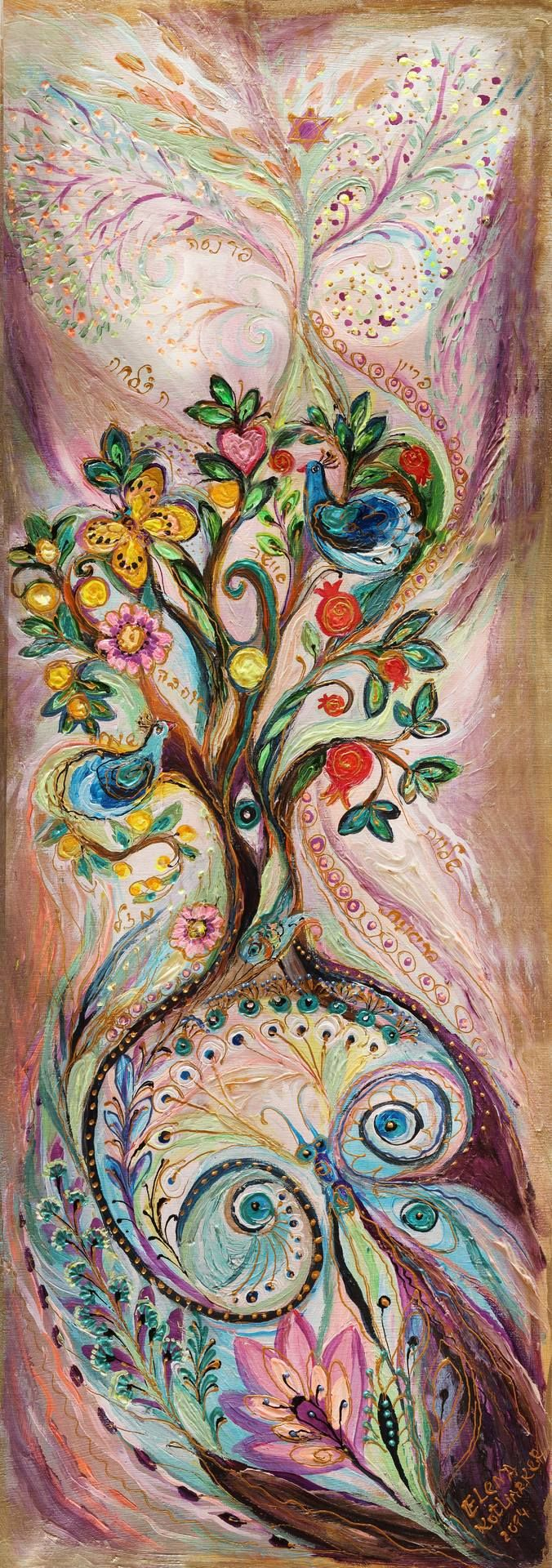 "Saatchi Art Artist: Elena Kotliarker; Acrylic 2014 Painting ""The Tree of Life II"""