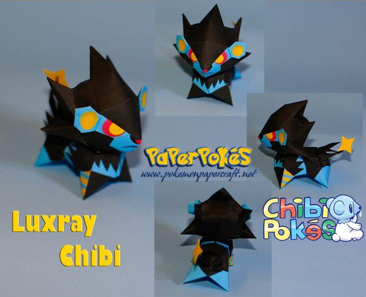 Easy Pokemon Papercraft | PaperPokés - Pokémon Papercrafts: LUXRAY CHIBI
