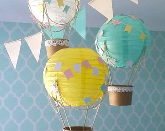 Whimsical Hot Air Balloon Decoration DIY kit by mamamaonline