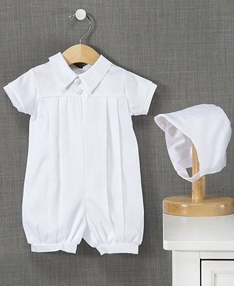 Lauren Madison Outfit, Baby Boys Christening Romper - - Macy's ... no hat