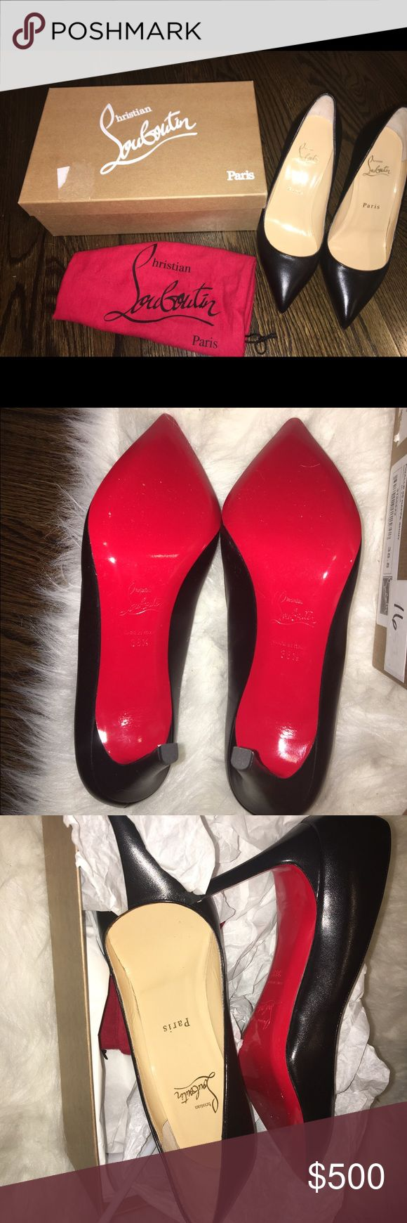Black Louboutins Pig Allie 85 Nappa shiny - never worn - size 8.5 - box and dust bags included Christian Louboutin Shoes Heels